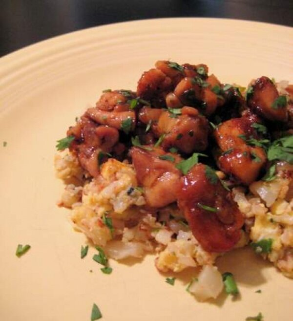 Orange Chicken and Cauliflower Fried Rice