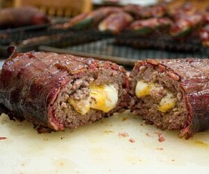 smoked bacon cheeseburger fatty