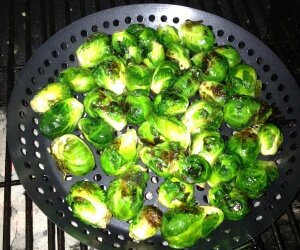 Grilled Rosemary-Garlic Brussels Sprouts
