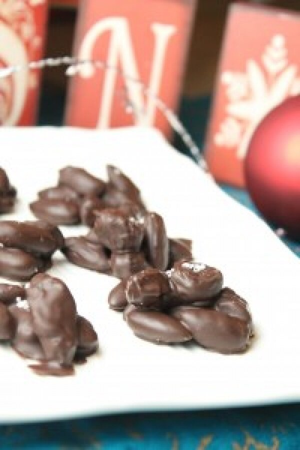 10 Minute Salted Dark Chocolate Fruit & Nut Clusters