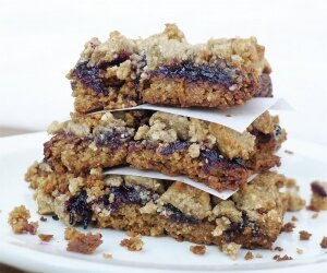 Sunflower Seed Butter and Jam Bars